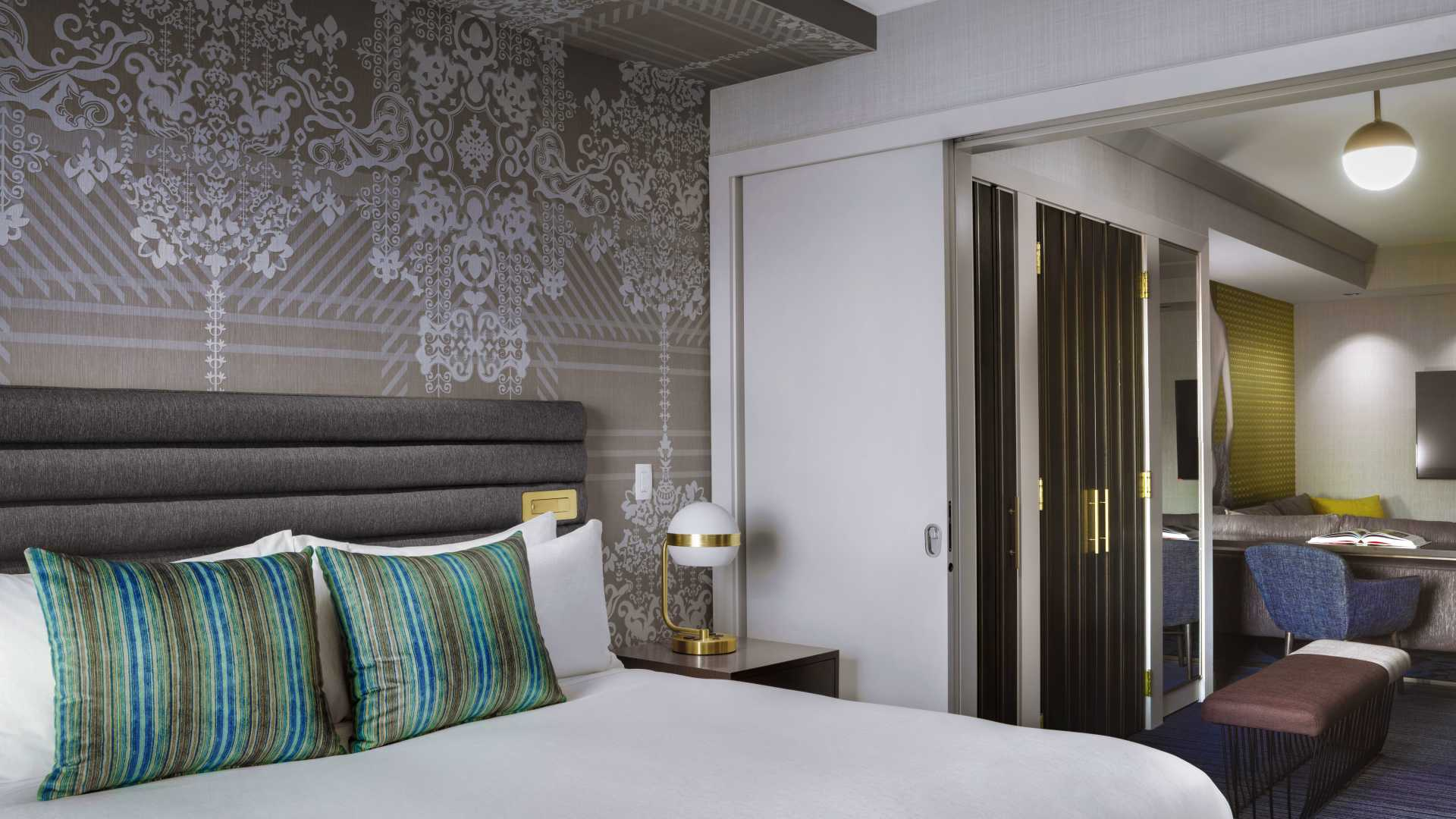 Miraculous Las Vegas Luxury Hotel Terrace One Bedroom The Cosmopolitan Interior Design Ideas Tzicisoteloinfo