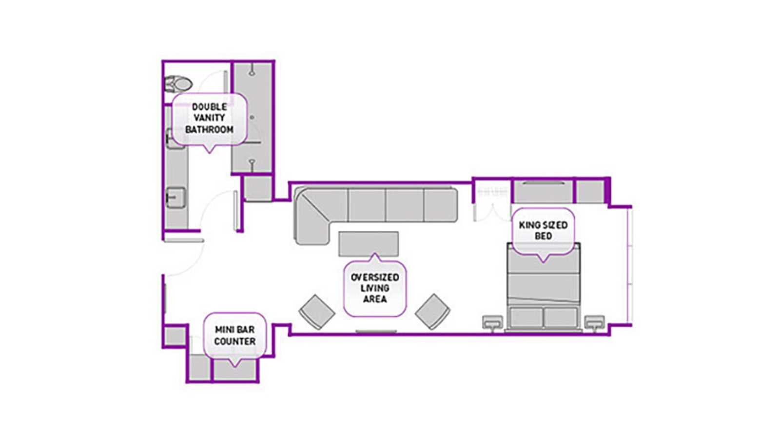 City Studio floor plan
