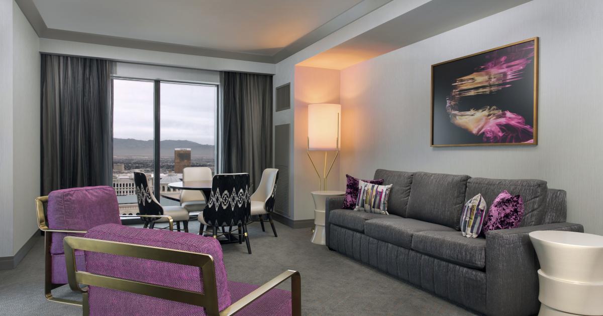 Las vegas luxury hotel two bedroom city suite the - Las vegas cheap suites two bedroom ...