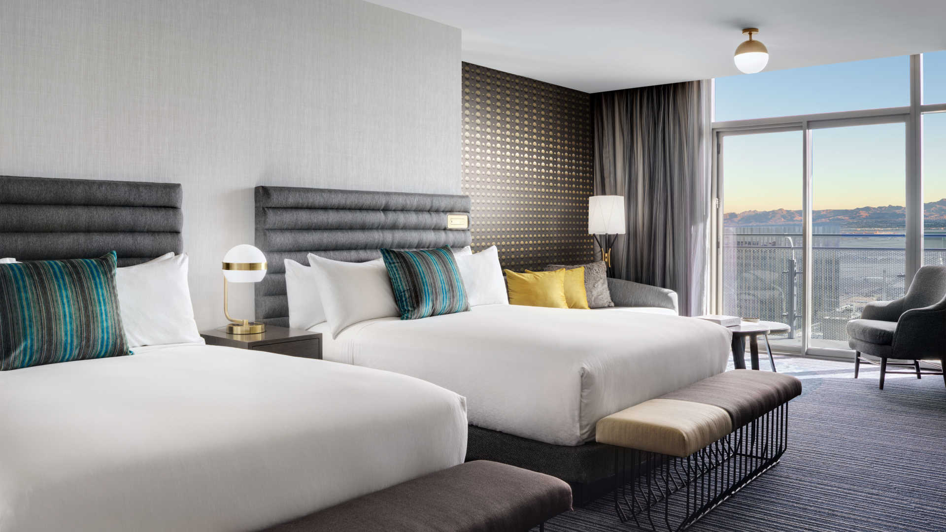 Marvelous Terrace Studio Two Queen Beds The Cosmopolitan Of Las Vegas Beutiful Home Inspiration Xortanetmahrainfo