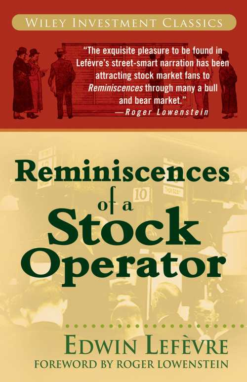 Buy Reminiscences of a Stock Operator on Amazon