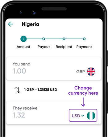 Send to Nigeria with the WorldRemit app