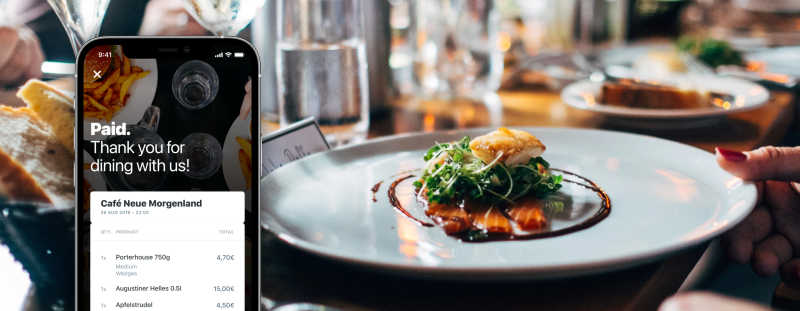 fine dining and a mobile screen