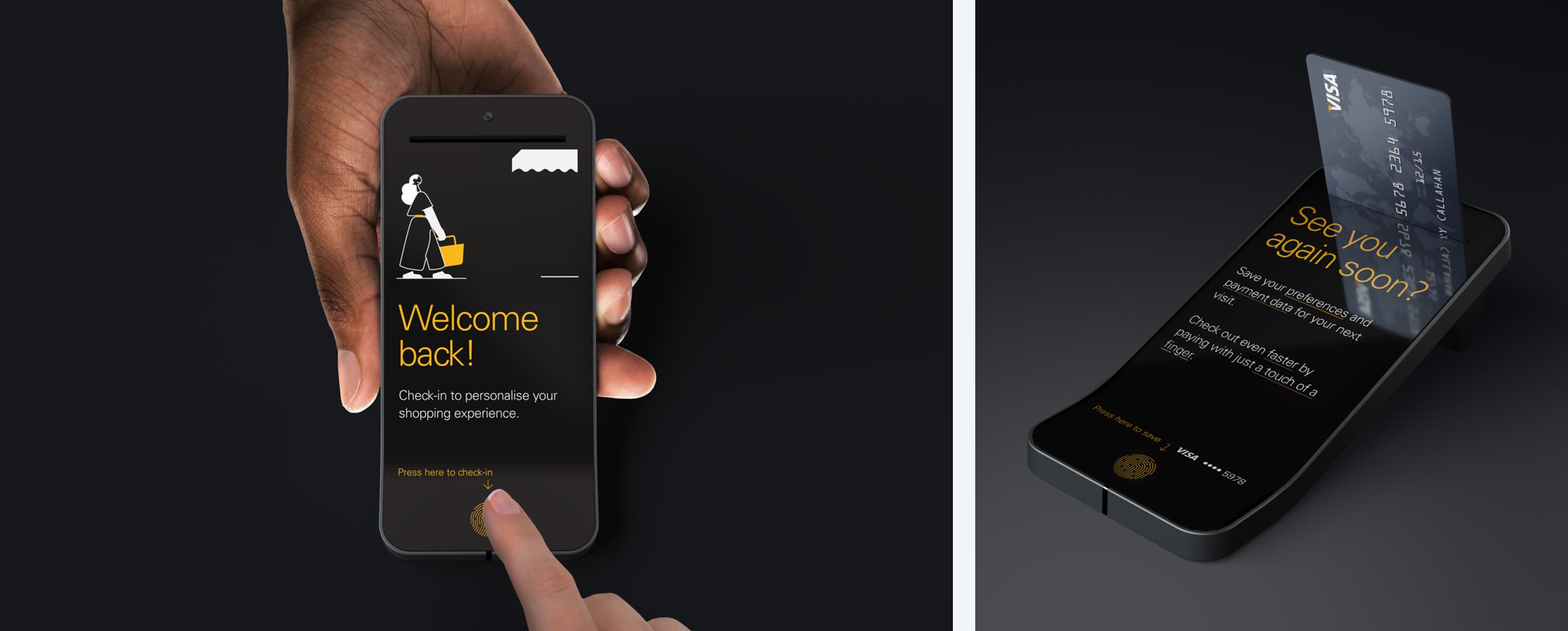 mobile screens fintech