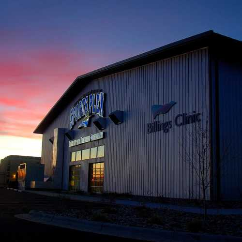 Billings Sports Plex side of building cs