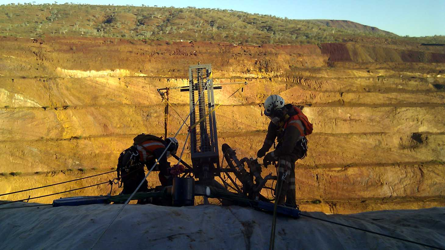 West Ang drilling at top