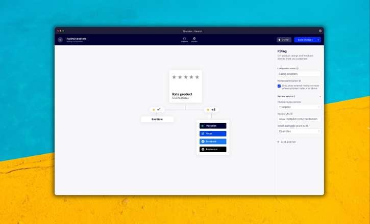 Custom domain and customer reviews