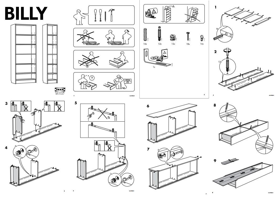 instructions IKEA billy