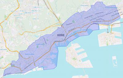 Uber Eats Kobe Service Area Map