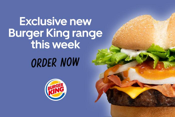 Burger King's new Bacon Lover range is exclusive on Uber Eats | Uber