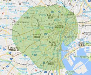 image Tokyo Map 300x247 post 1310 - UberEATSってご存知ですか?次世代フードデリバリー UberEATS