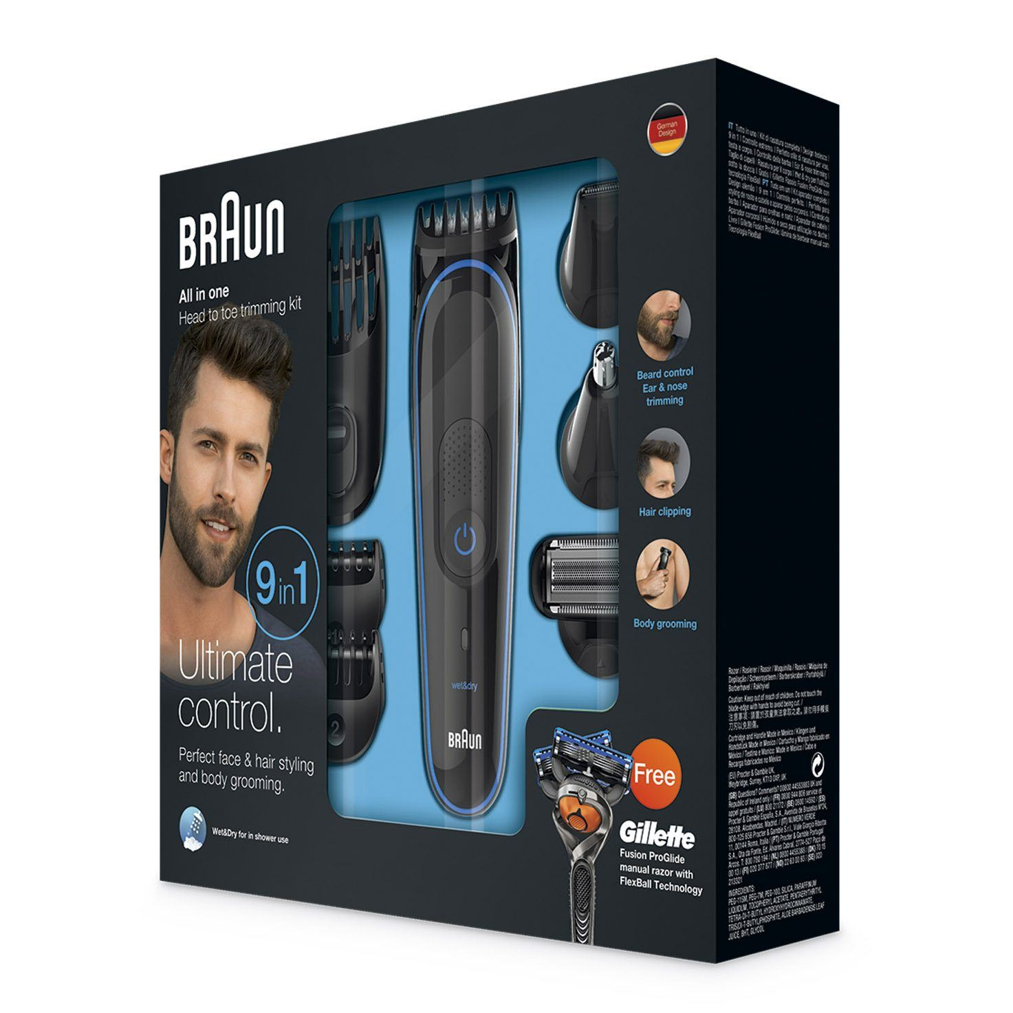 Braun multi grooming kit MGK3080 packaging