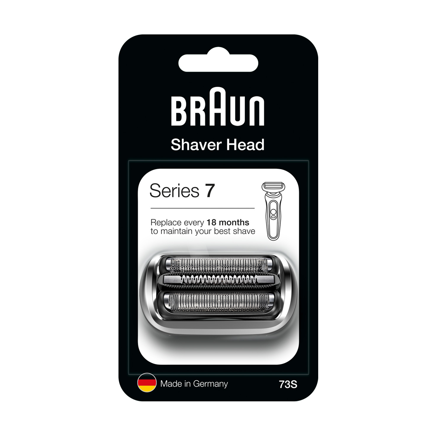 Braun Series 7, 73S, Electric shaver head, sliver