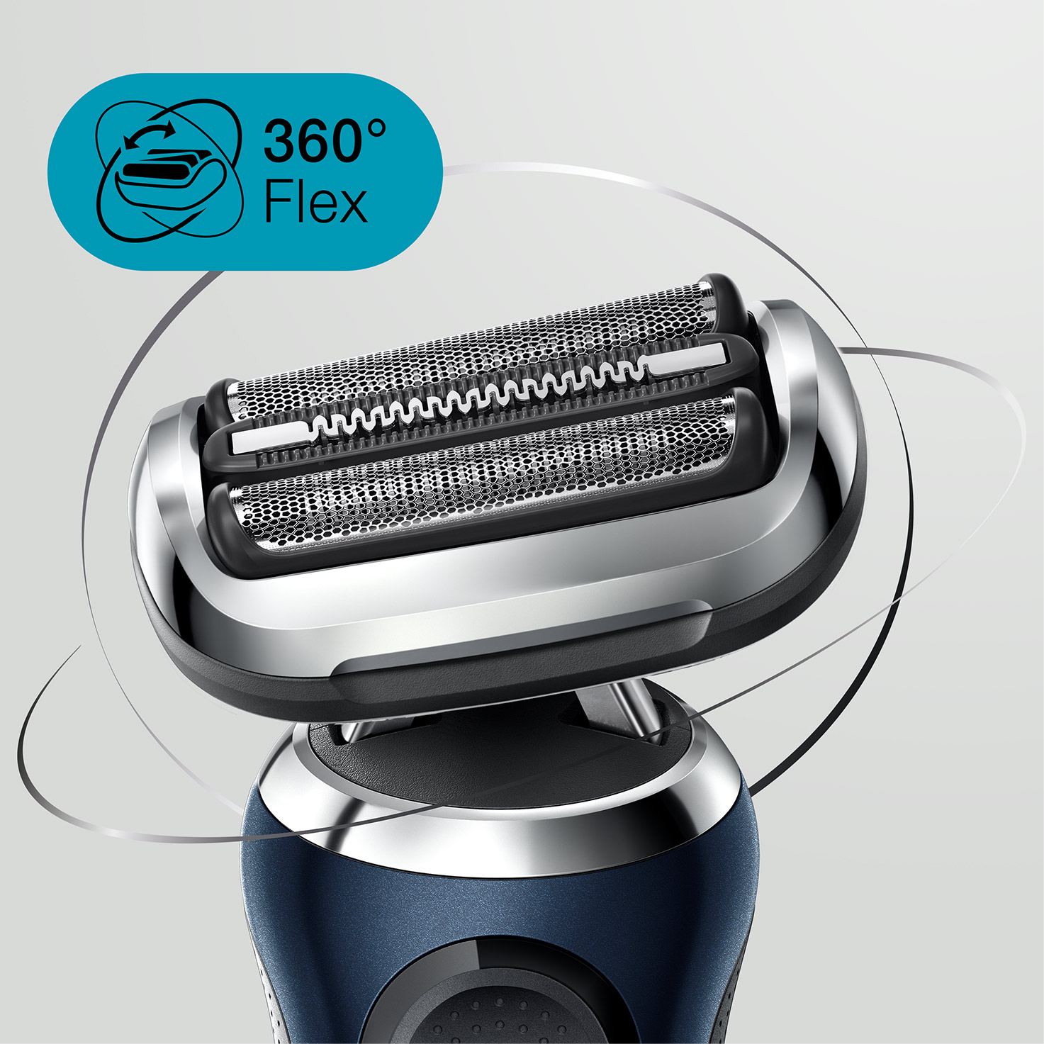 Braun Series 7 blue Electric Shaver