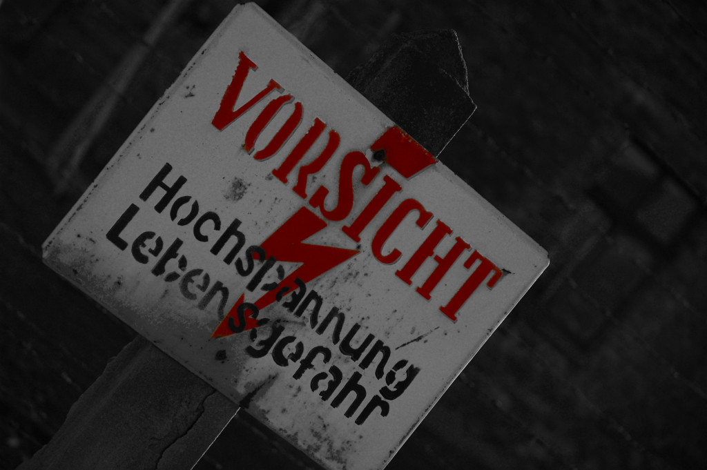 Vorsicht - Attention - Sign - Auschwitz