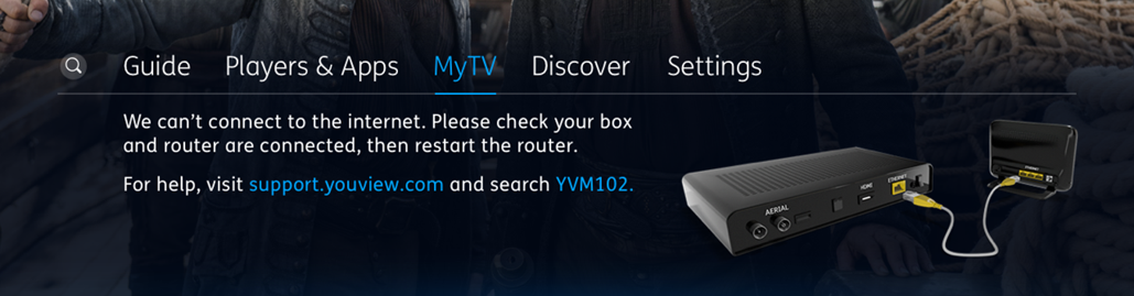 Disconnected error message in MyTV