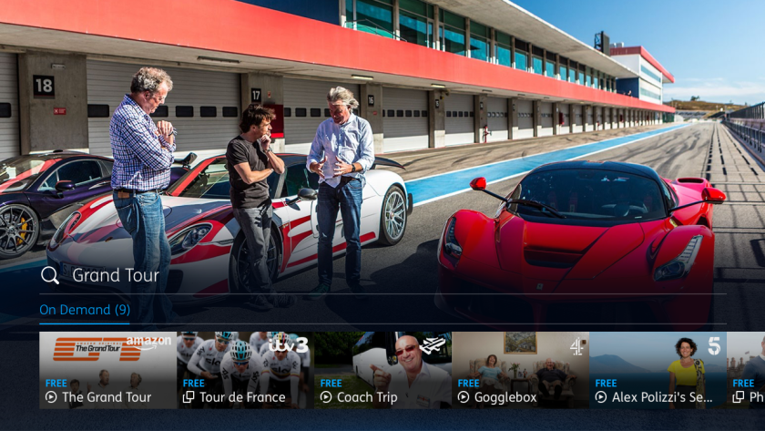 YouView search The Grand Tour results
