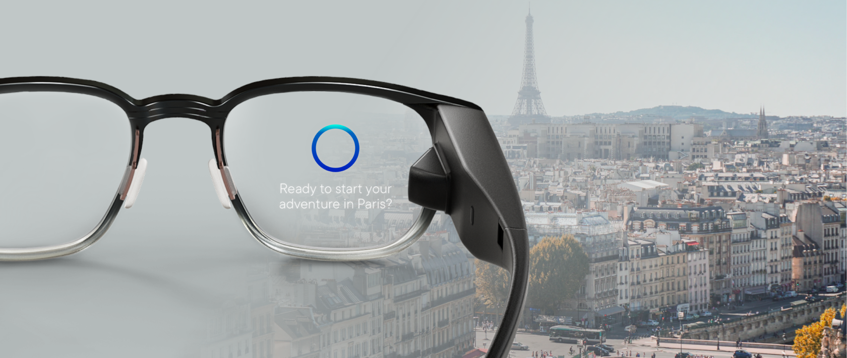 The smart glasses with