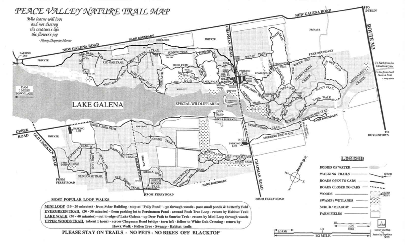Peace Valley Park Map Peace Valley Park | Philly Day Hiker