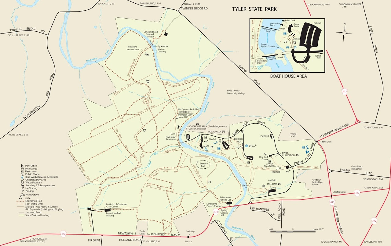 Tyler State Park Map Tyler State Park | Philly Day Hiker