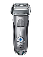Braun Series 7 silver electric shaver