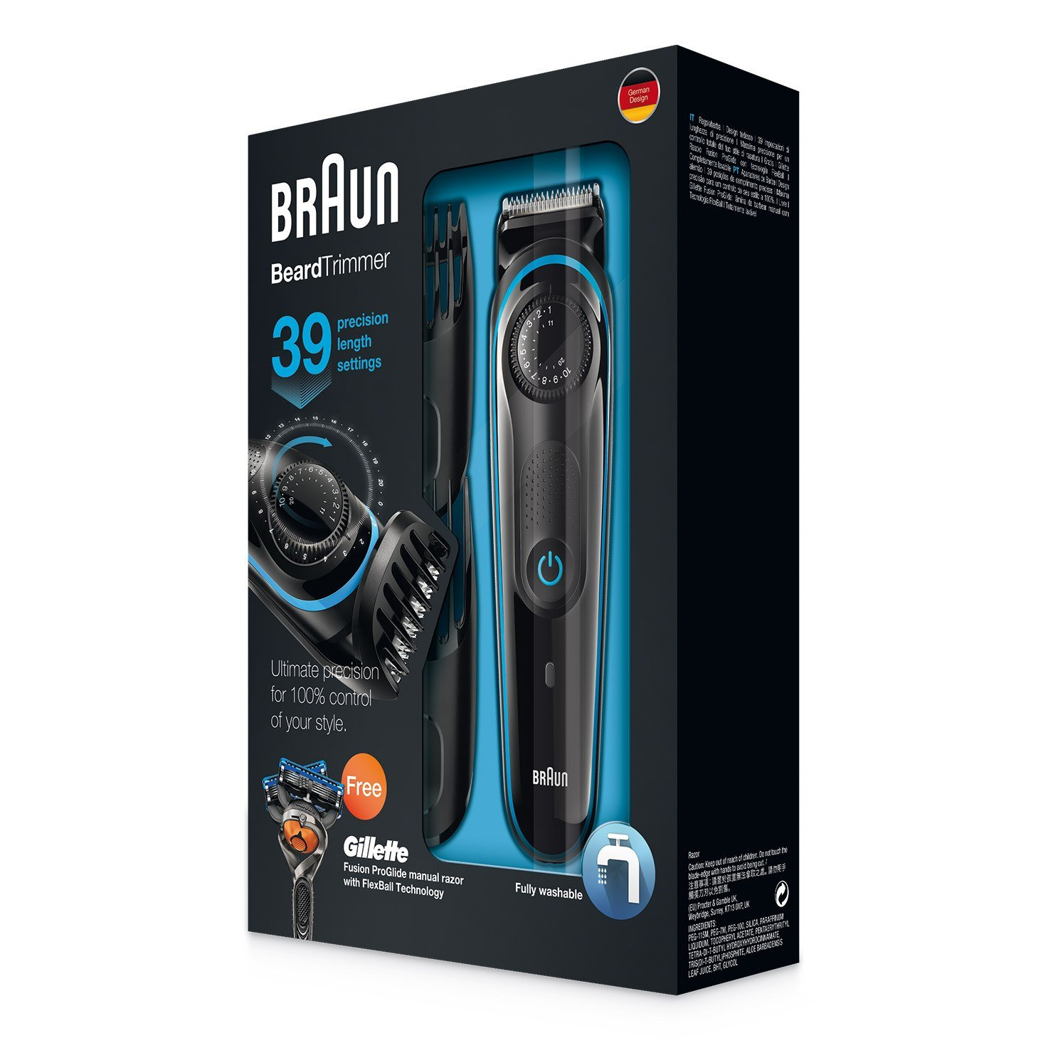Braun Beard Trimmer BT3040 package