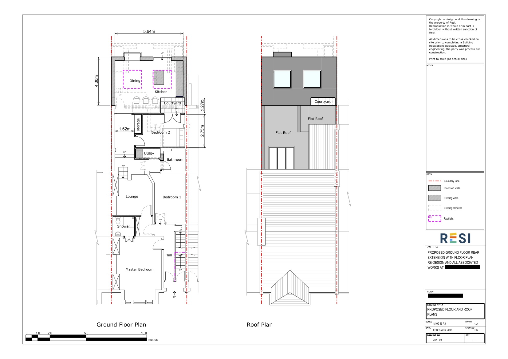 Architectural drawings rev a 2   gf and roof plans