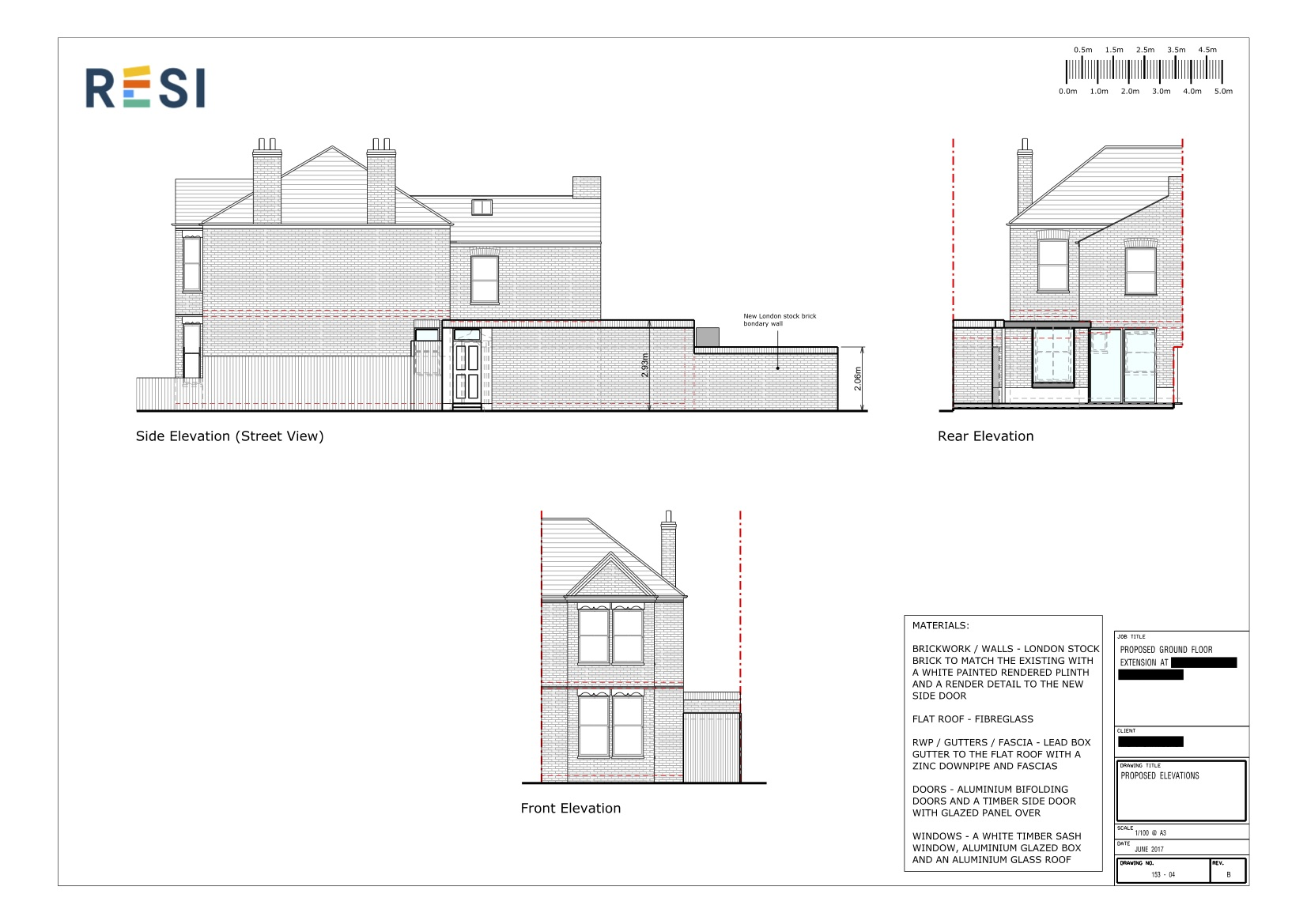 Revised architectural drawings   elevations