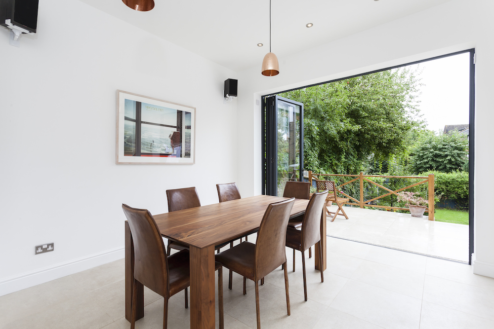 Dining room with bi-folds