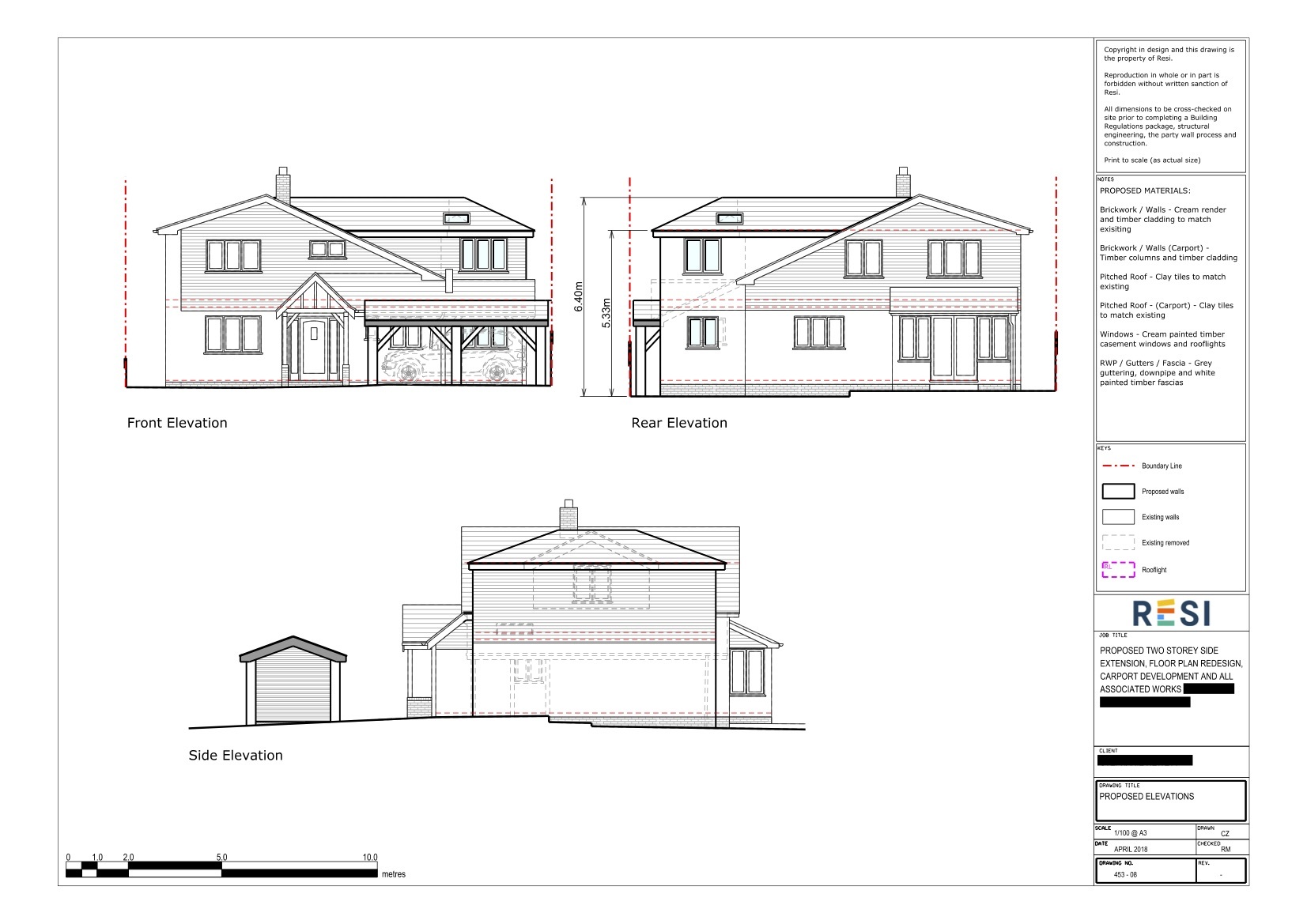 Architectural drawing package   elevations
