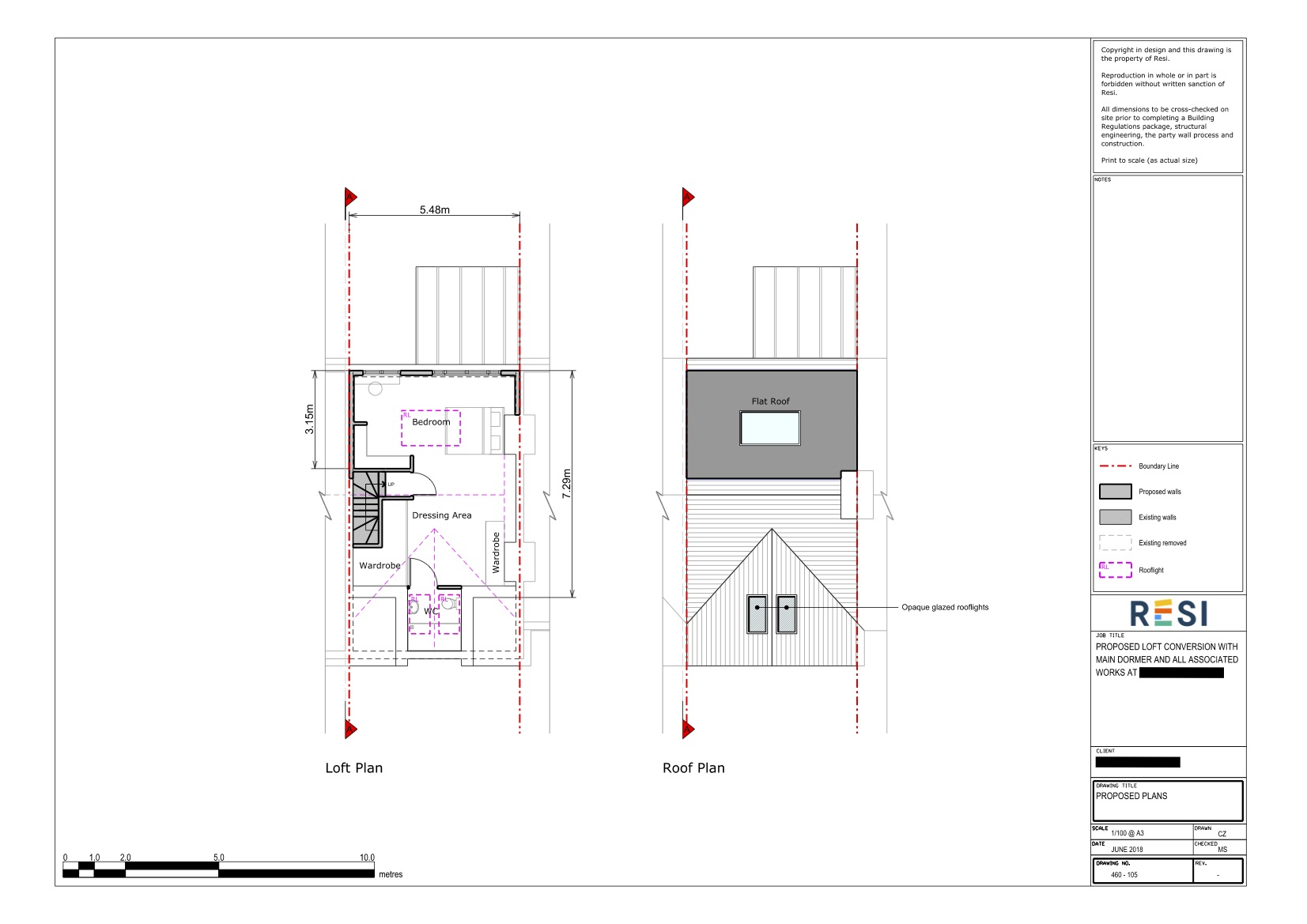 Plans and elevations pd   loft and roof plan