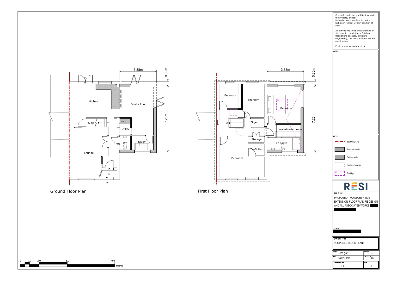 Architectural drawings rev a 9   ground and first floor plans