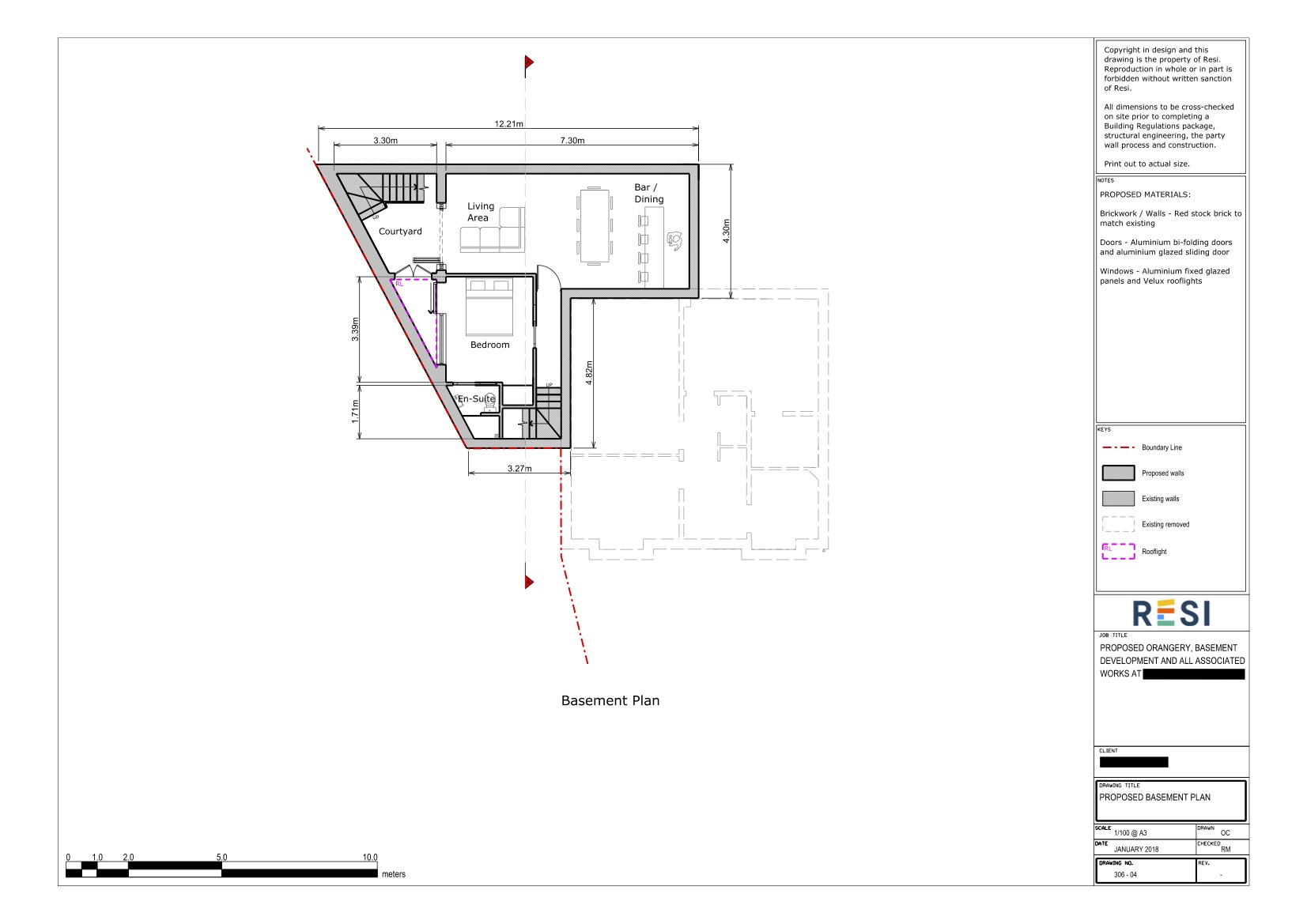 Architectural drawing package rev a   proposed basement plan