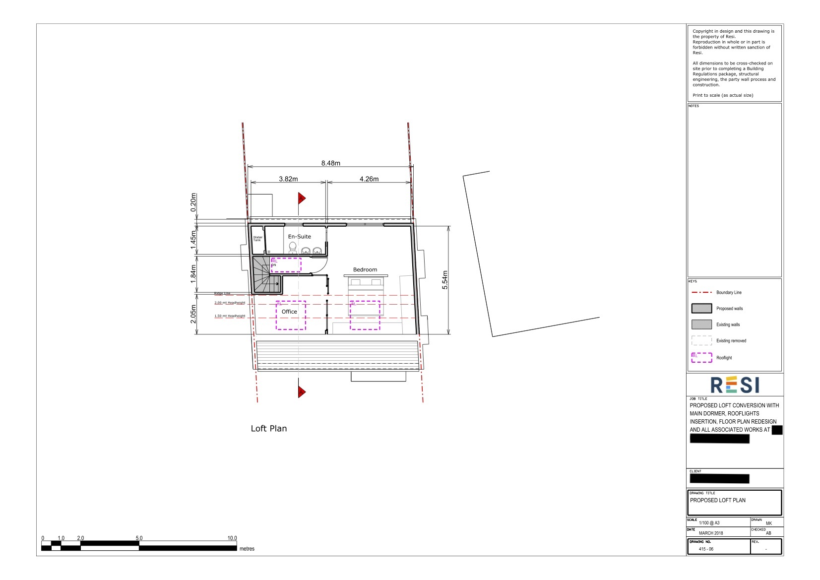 Architectural drawings   loft plan