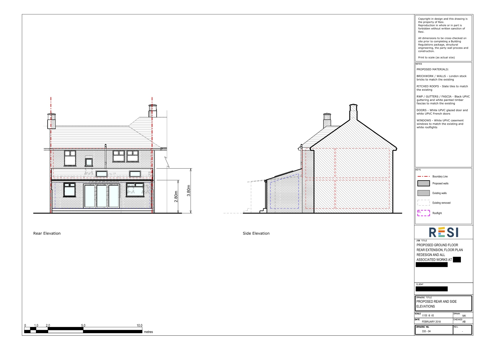 Architectural drawings set   elevations