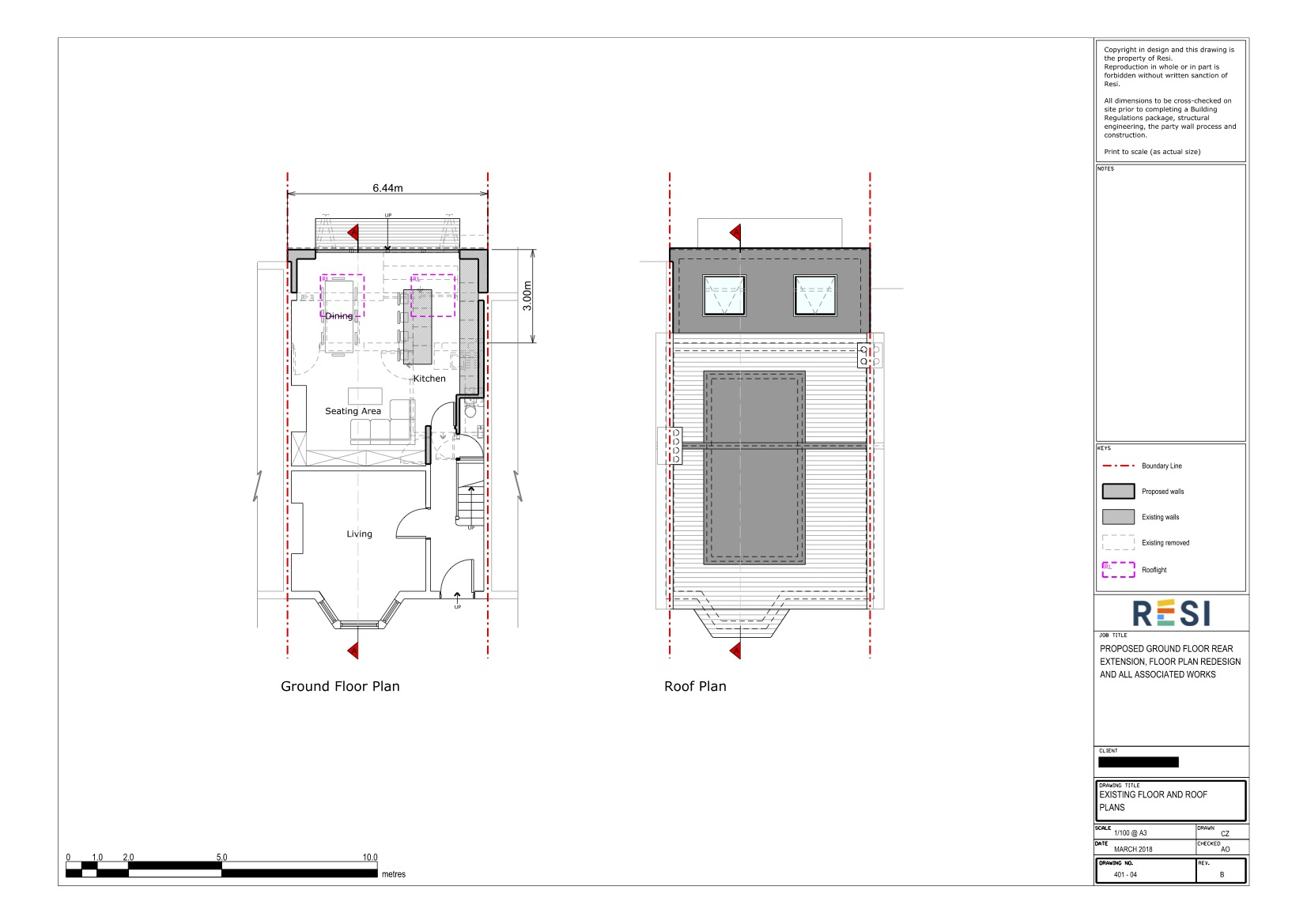 Architectural drawings rev b 3   ground floor and roof plans