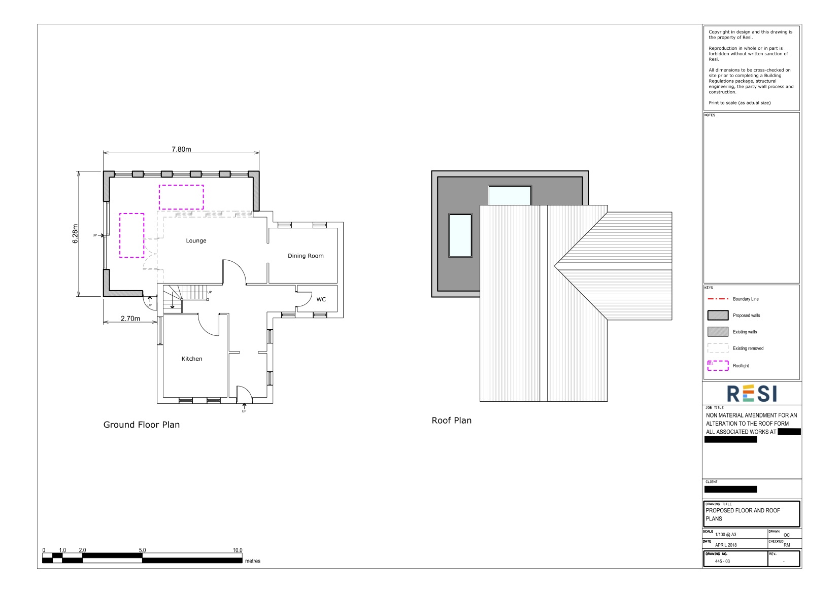 78 half acre road   architectural drawings   ground floor and roof plans