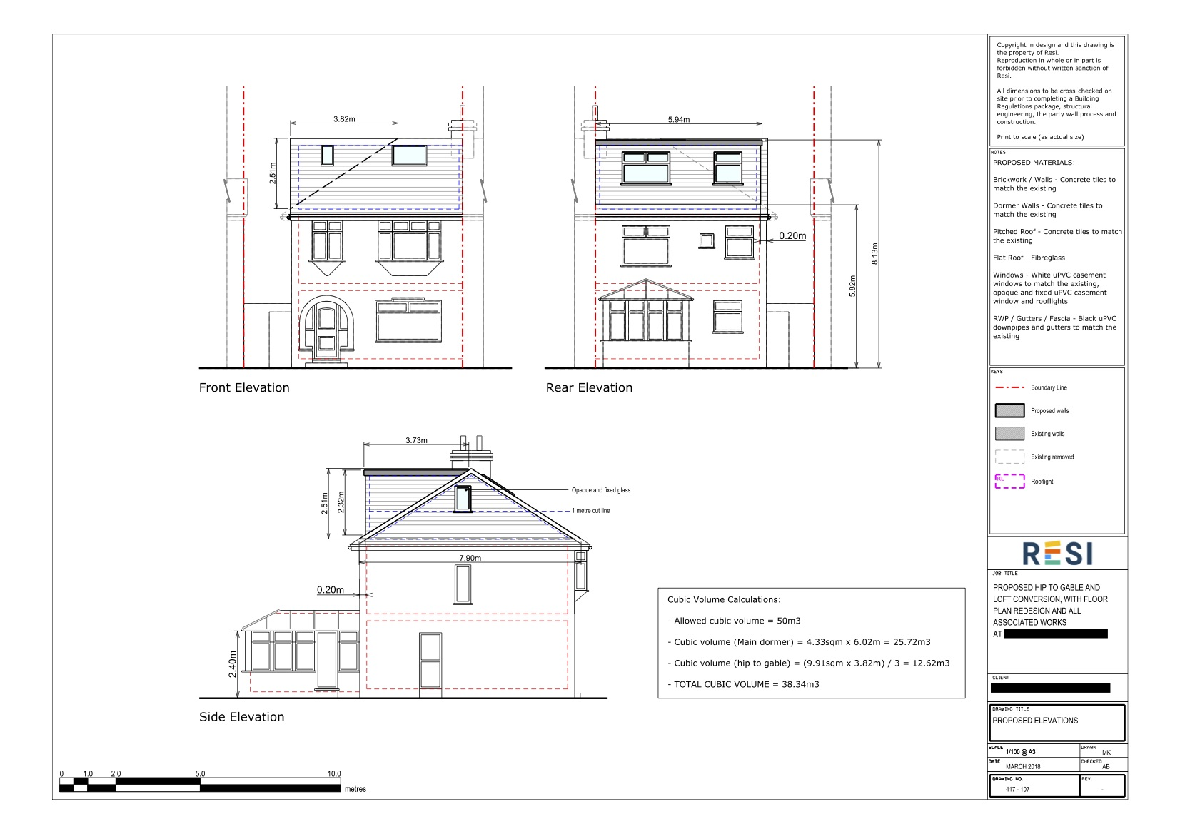 Architectural drawings set lc   first floor and loft elevations