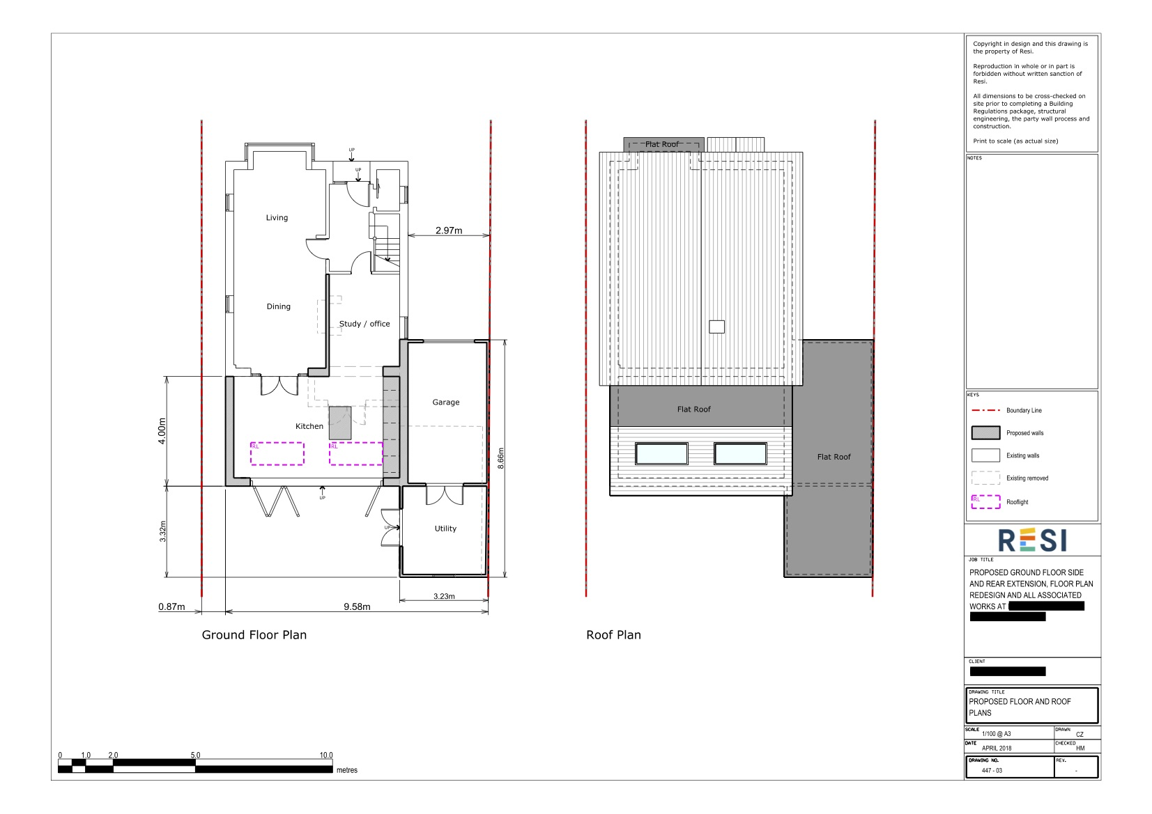 Architectural drawings rev a 4   ground and roof plans