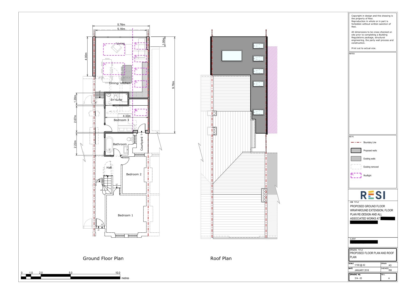 Architectural drawings rev a 3   ground floor and roof plan