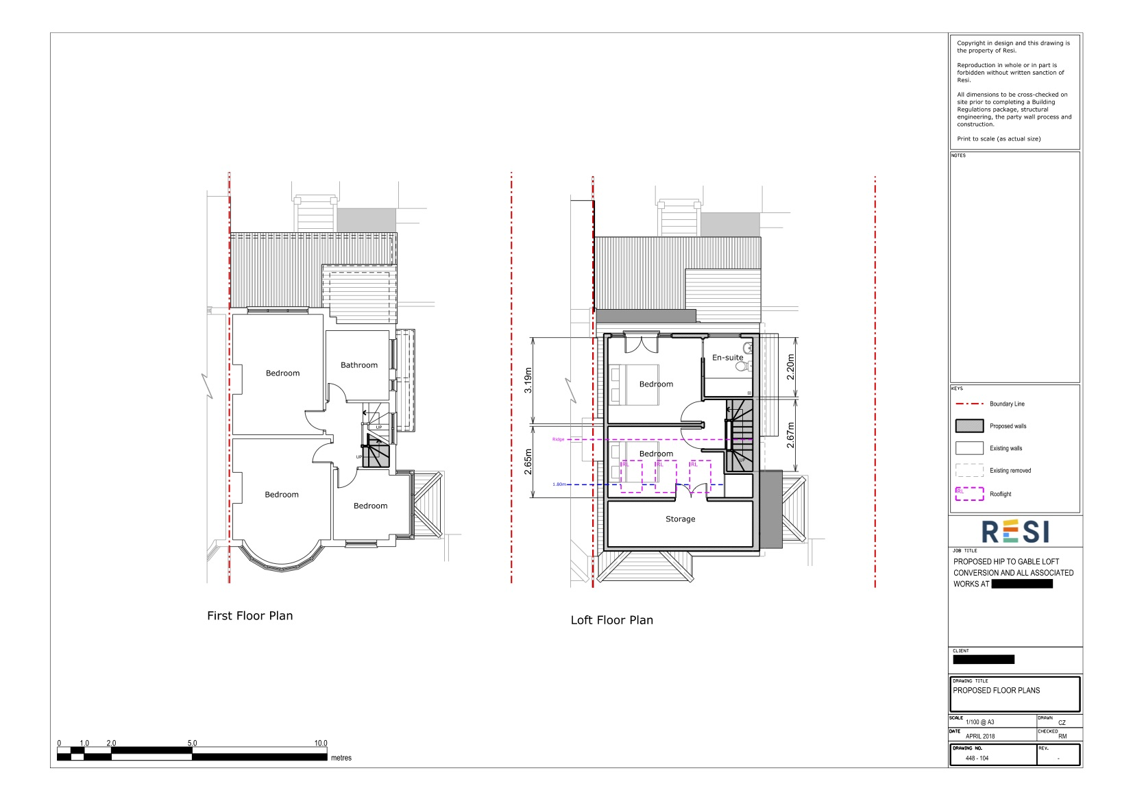 Architectural drawings   loft floor plans
