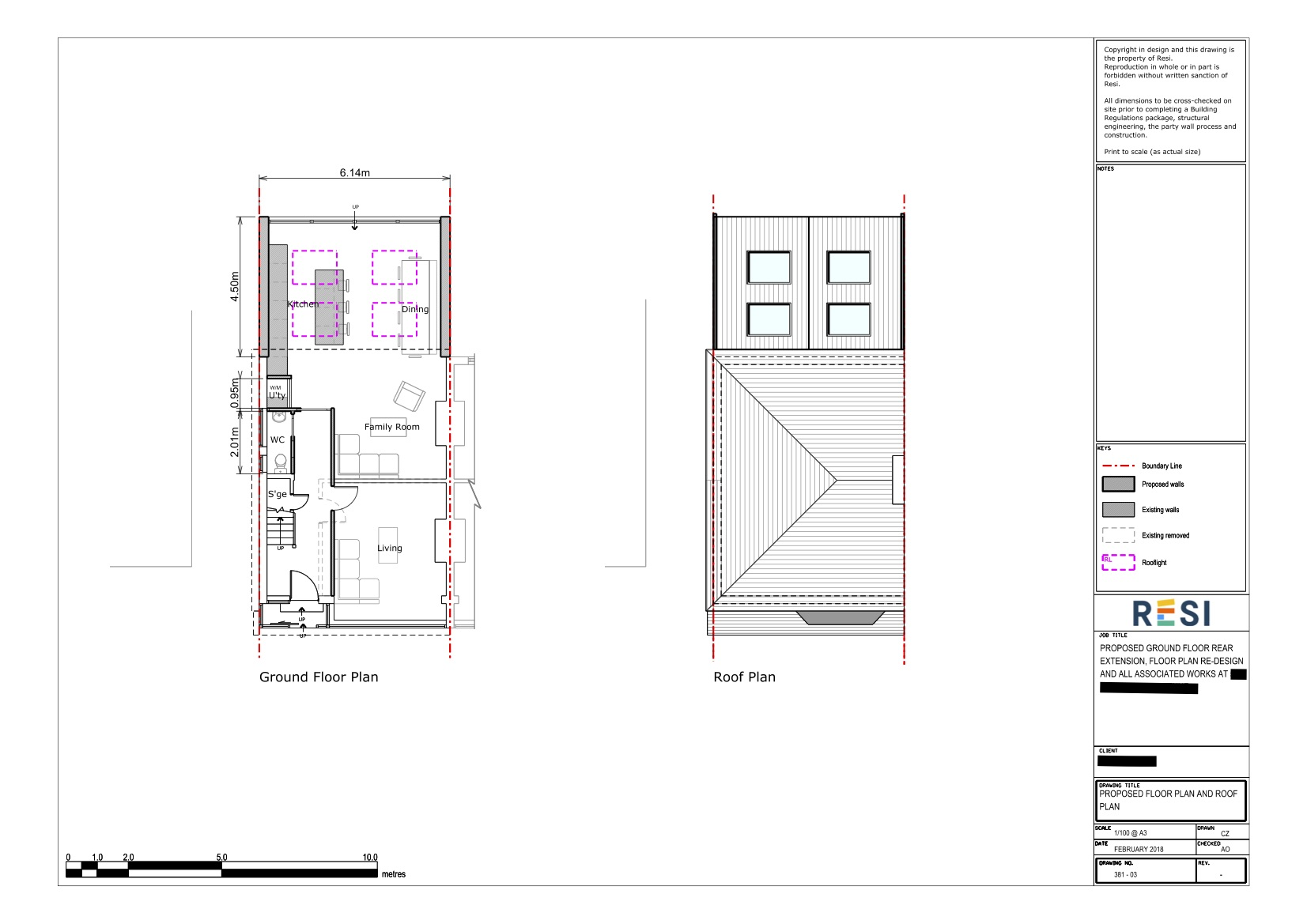 Gf architectural drawings   gf and roof floor plans