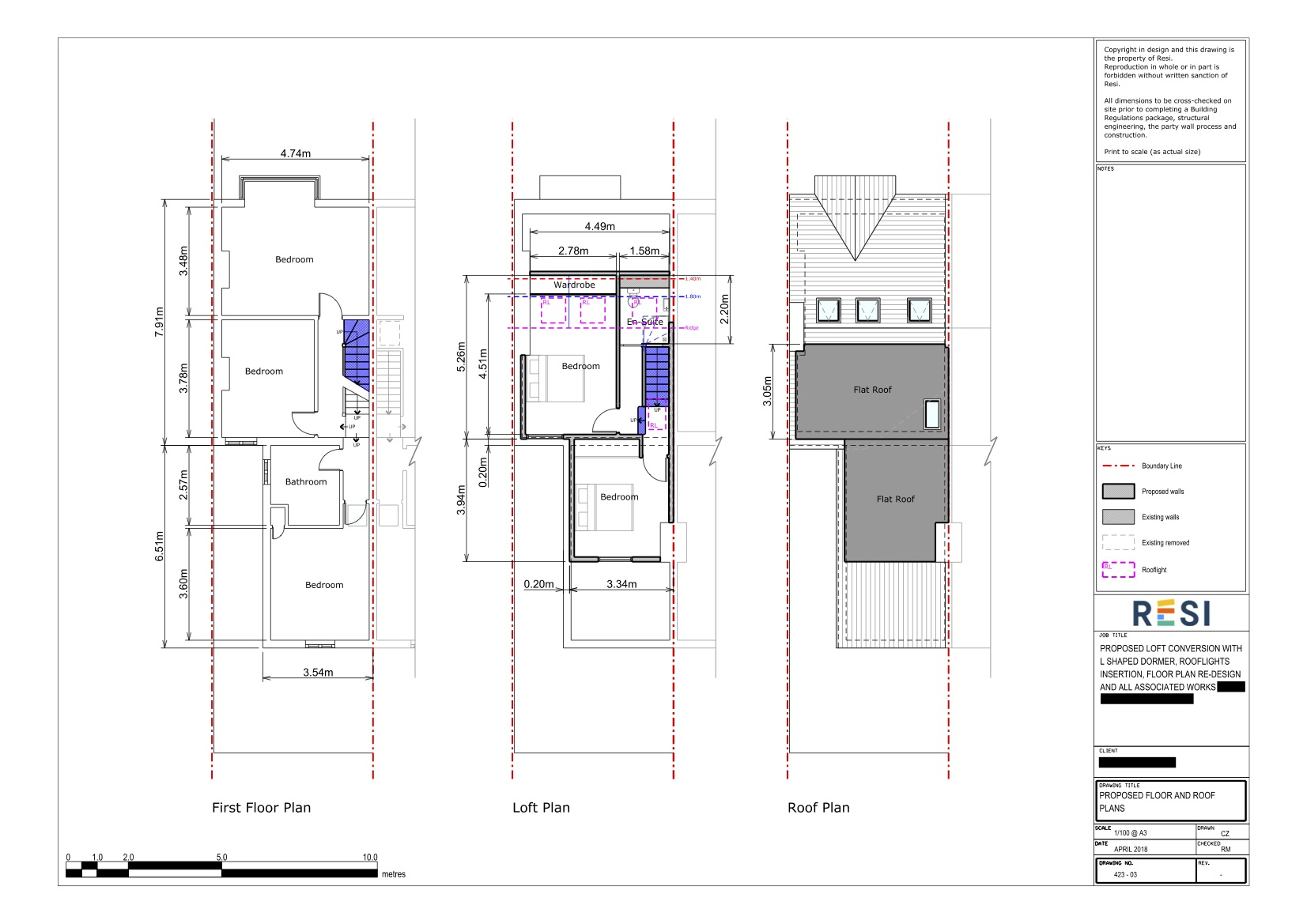 Architectural drawings 34   first floor and loft plans