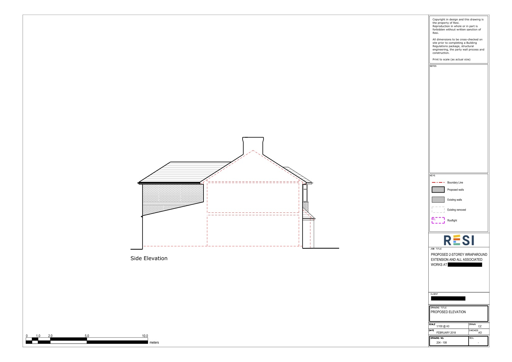 Architectural drawings   elevations 2