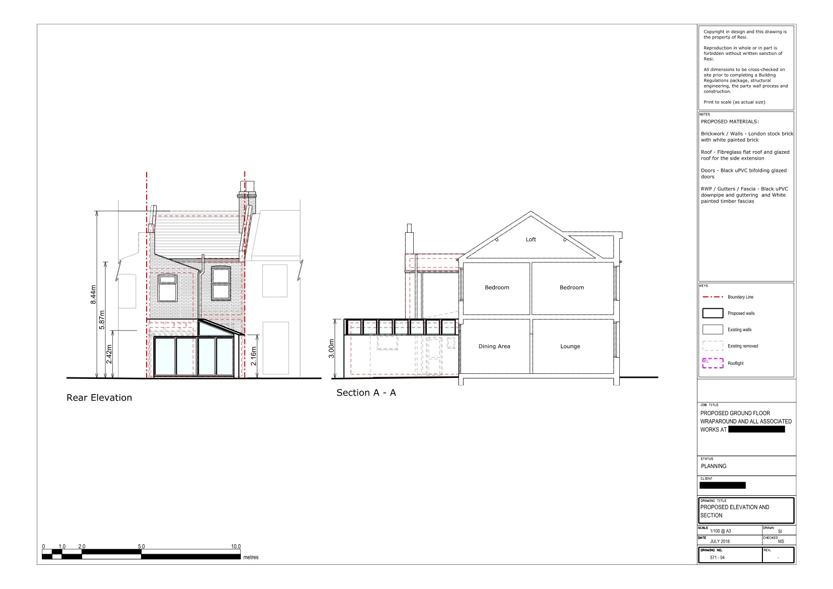 Architectural drawings    ground floor elevations