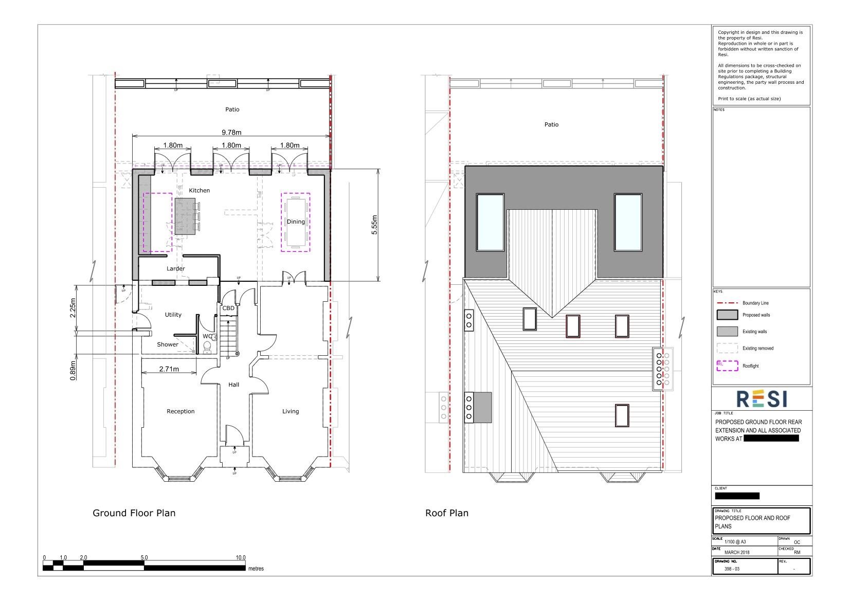 Architectural drawings 19   ground floor and roof plans