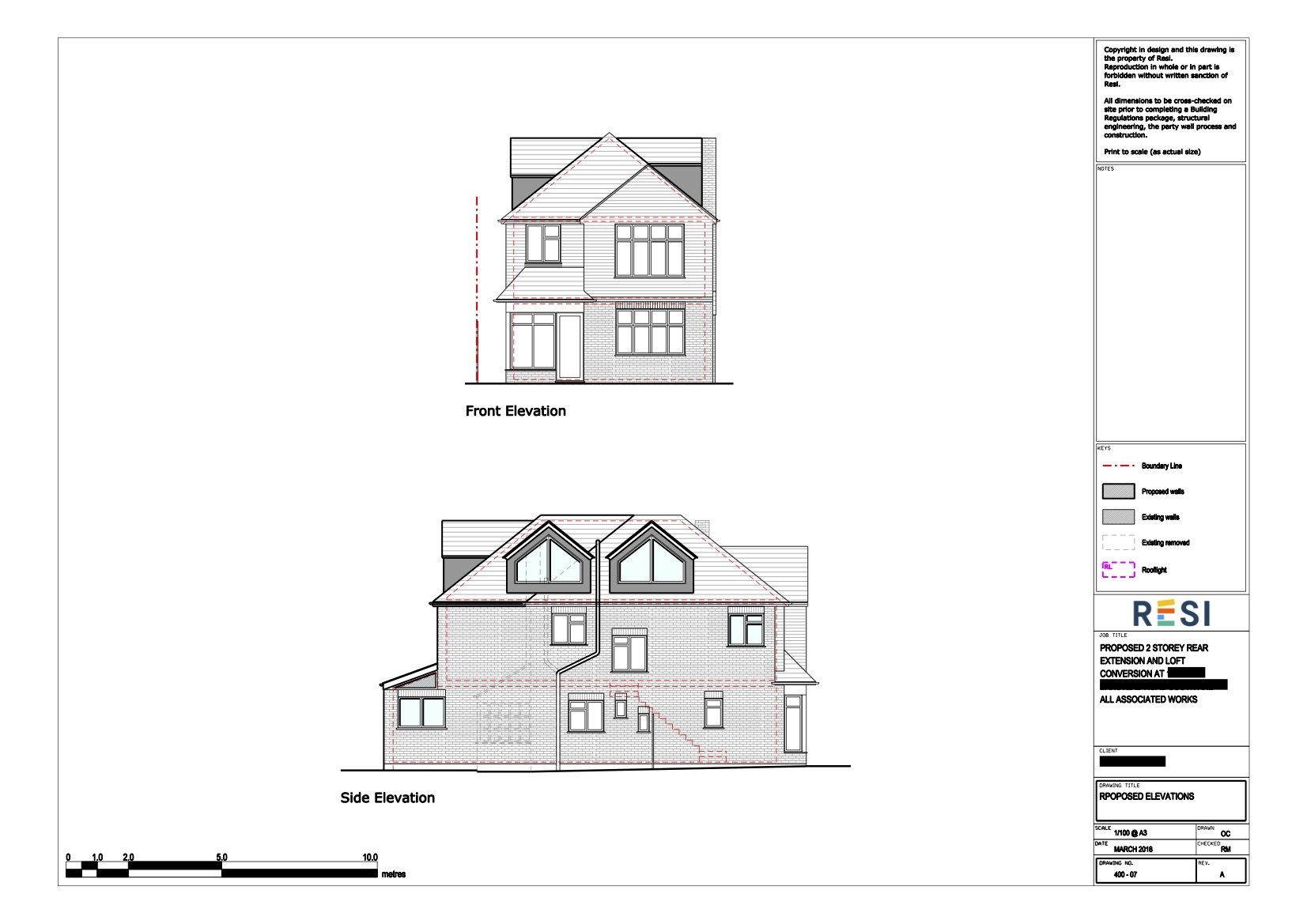 Architectural drawings  loft elevations