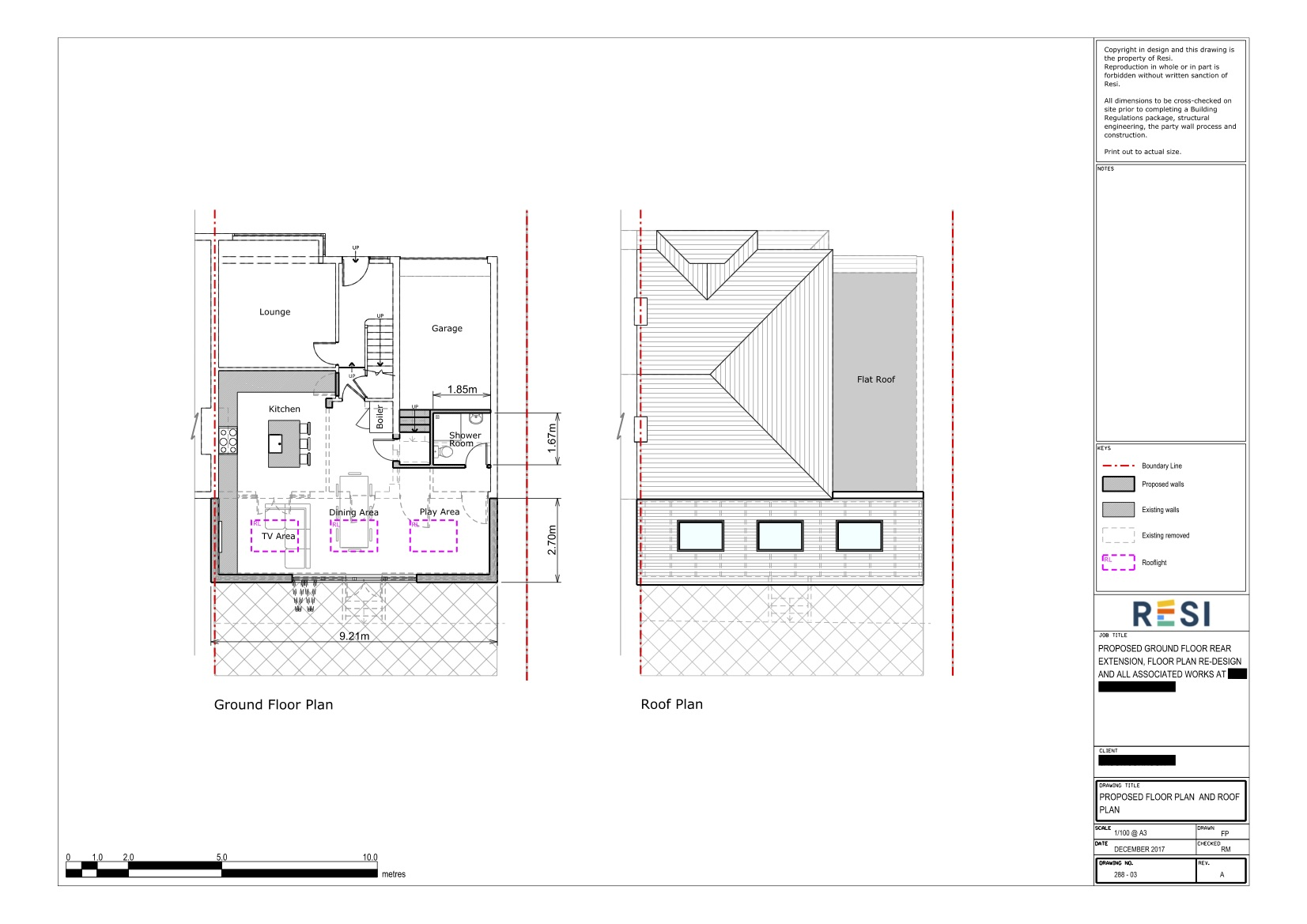 Architectural drawings rev a   floor and roof plans