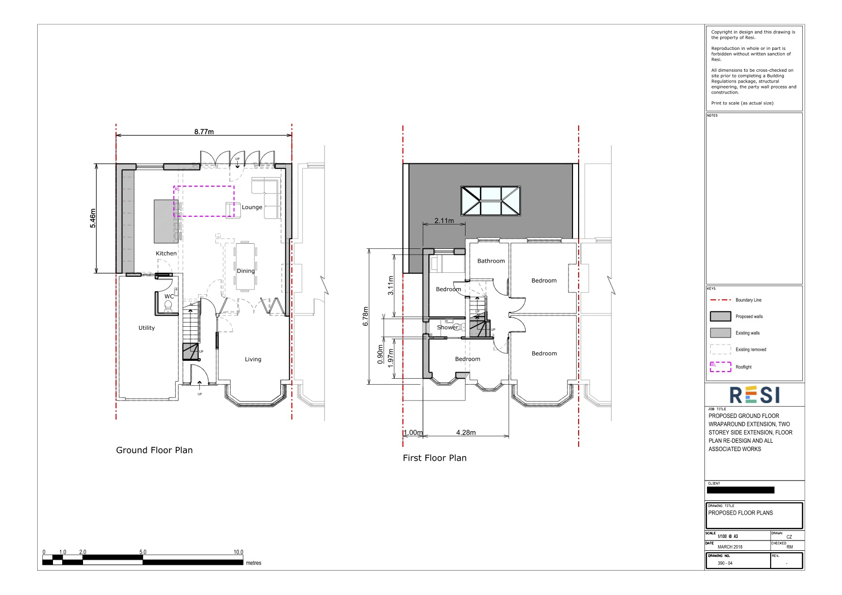 Architectural drawings 33   ground and first floor plans