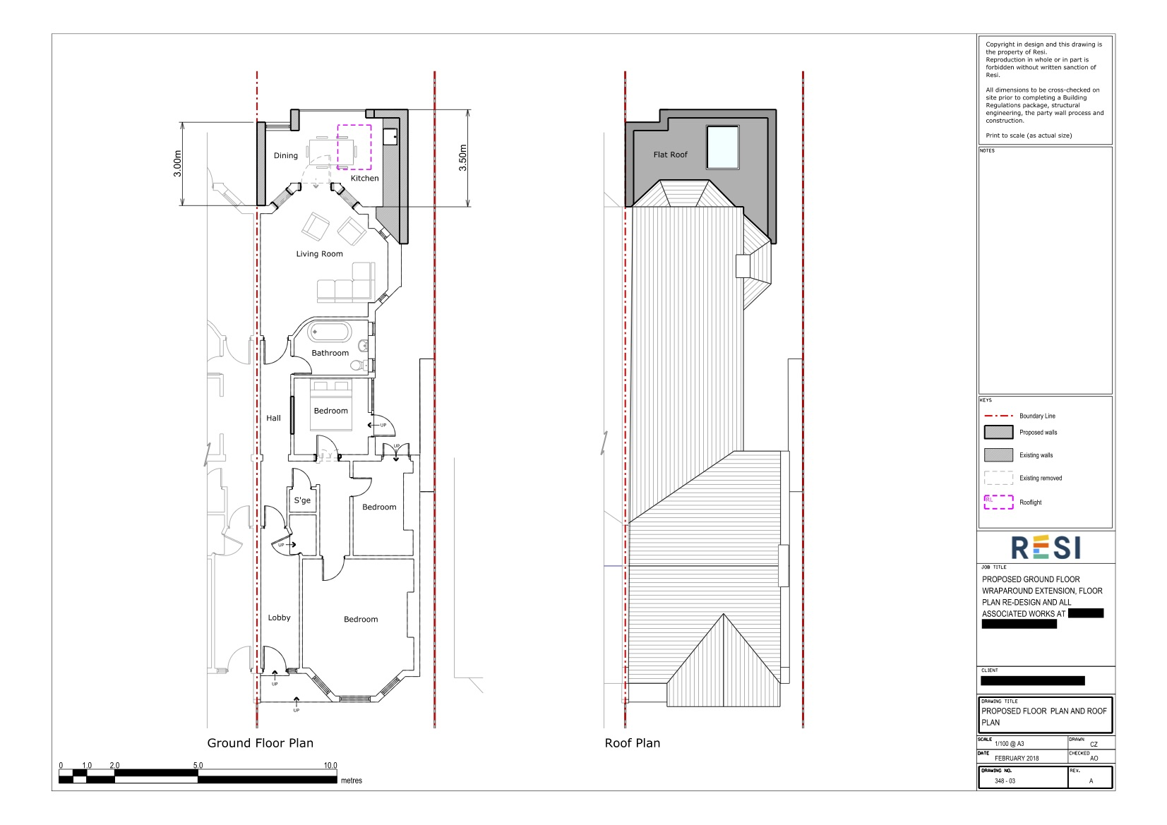 Architectural drawings   rev b   ground floor and roof plans